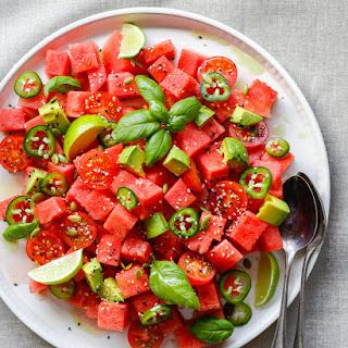 Watermelon, Tomato and Jalapeño Salad.
