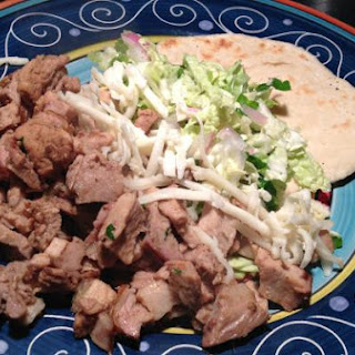Bone-In Rib End Pork Roast with Fresh Tortilla's and Cabbage Salad
