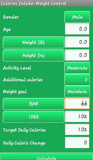 カロリー計算 - 重量損失