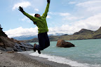 Joshua Catching Air at Lago Nordenskjold (Torres Del Paine, Chile)