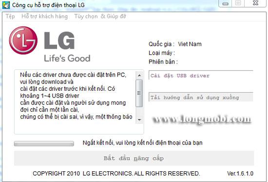 chay lại phần mềm máy LG