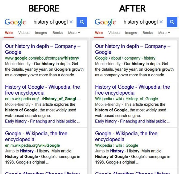 Google Fits Breadcrumbs into Search on Mobile
