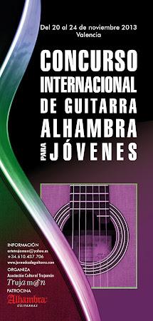 Concurso Internacional de Guitarra Alhambra para Jóvenes 2013