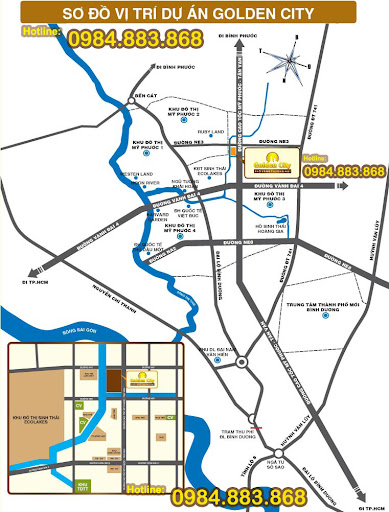 Sơ đồ vị trí - Golden City - Phố vàng thương mại