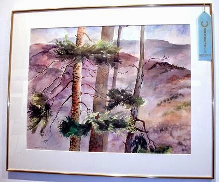 """Honorable Mention: """"Eagle's View"""" by Natalie Fleming. Watercolor."""