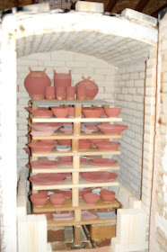 Kiln loaded and ready to glaze fire to 2400 degrees!