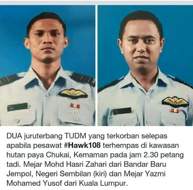 Pesawat TUDM Hawk 108 Terhempas