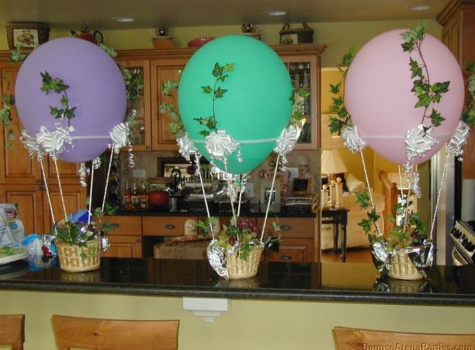 Globos aerost ticos como centros de mesa - Centros de mesa caseros ...