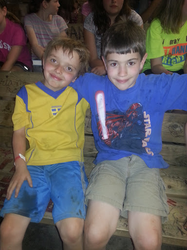 Caleb and one of his very-best friends, Kjell.