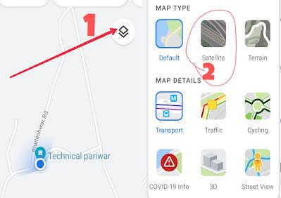 Map satellite mode