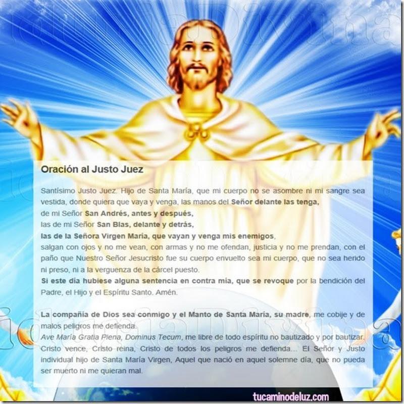 Protección oración Justo Juez