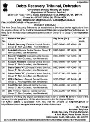 DRT Dehradun Vacancy 2020 www.jobs2020.in