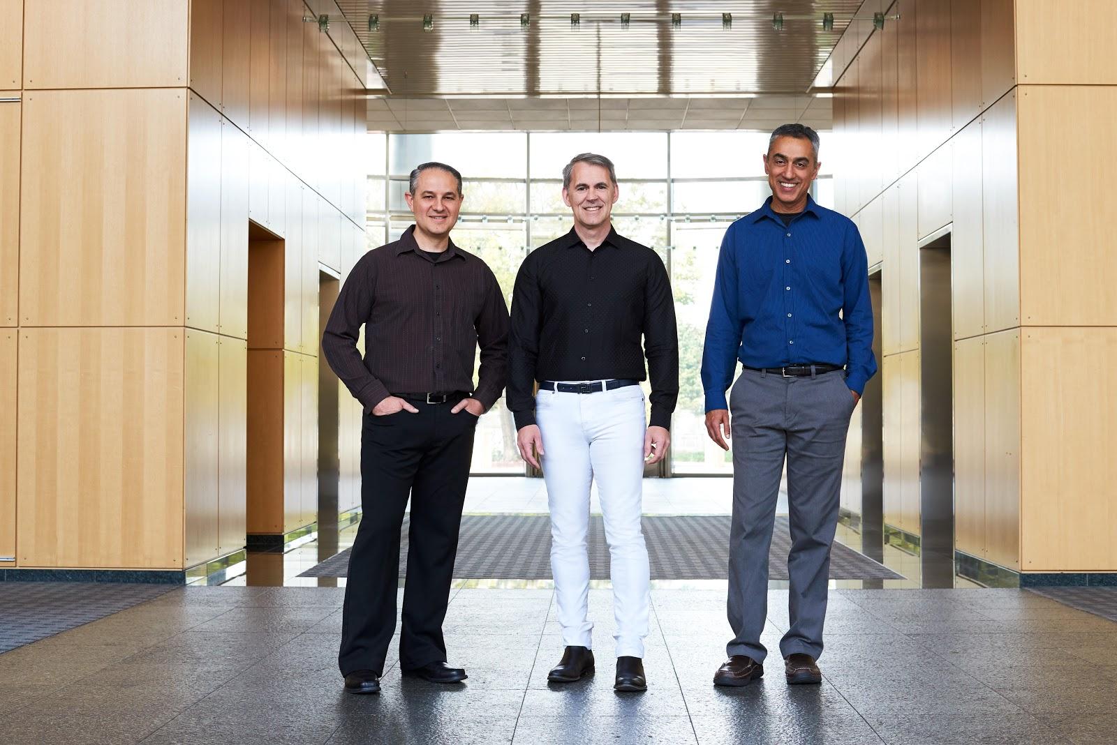 NUVIA founders Gerard Williams, Manu Gulati and John Bruno.