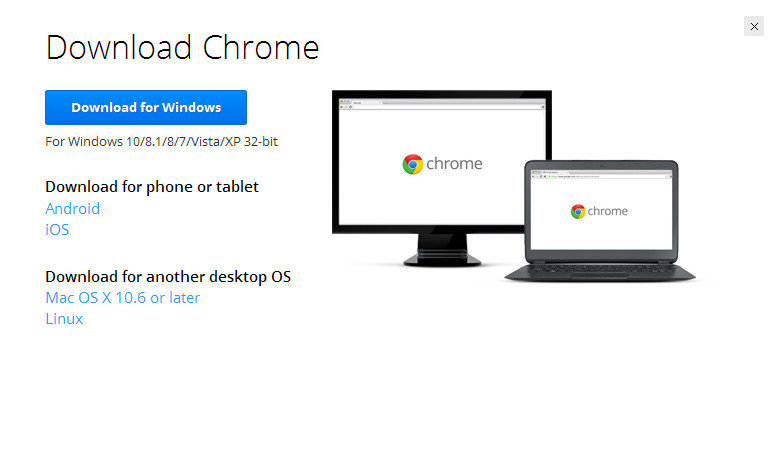 How to download Chrome for Windows without installing it