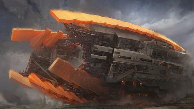 Vimana - um antigo veículo voador que é descrito viajando para o espaço