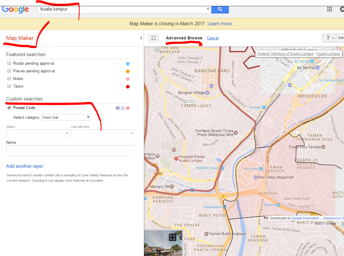 Postal Code Boundaries For Malaysia 地图帮助