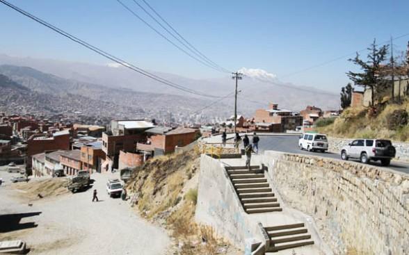 La Portada (1958): zona de la ciudad de La Paz
