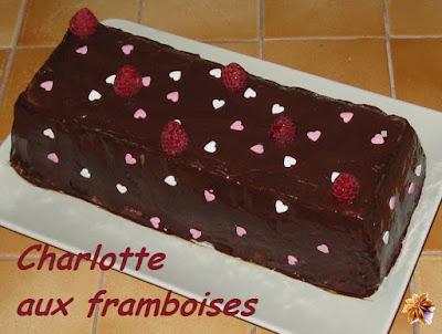 Charlotte aux framboises - recette indéxée dans les Desserts