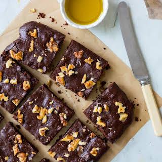 Olive Oil Chocolate Brownies.