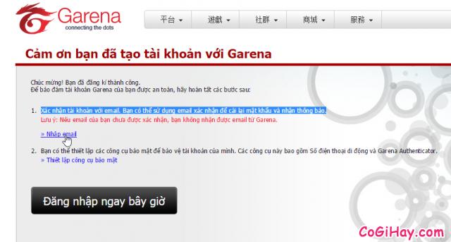 Xác thực địa chỉ email đăng ký game FIFA