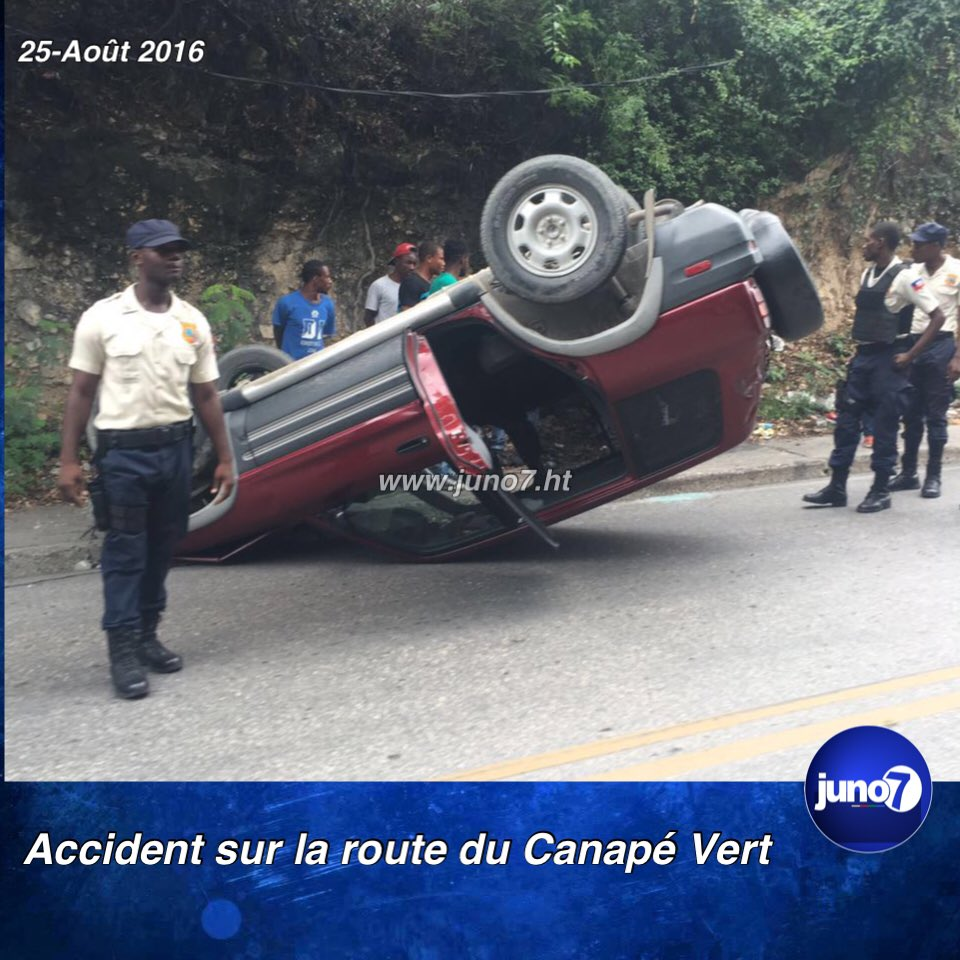 Haiti flashinfo accident sur la route du canap vert for Canape vert haiti