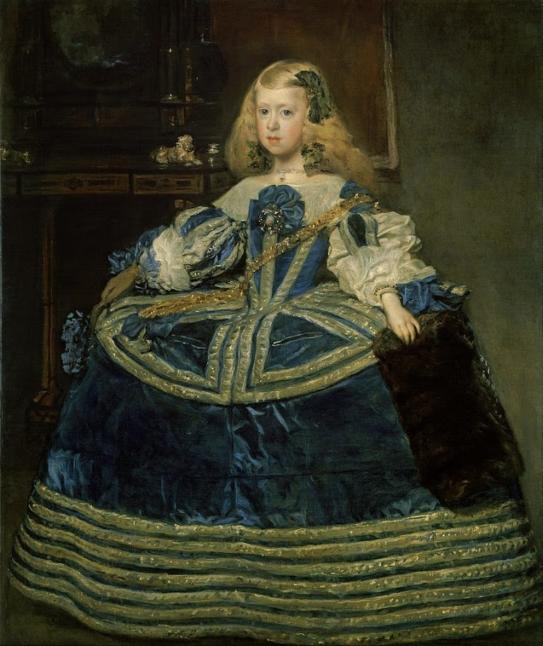 Diego Velazquez - Infanta Margarita Teresa in a Blue Dress