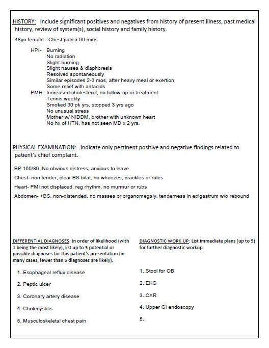 USA Residency criteria Typing a patient note  New Compulsory - patient note