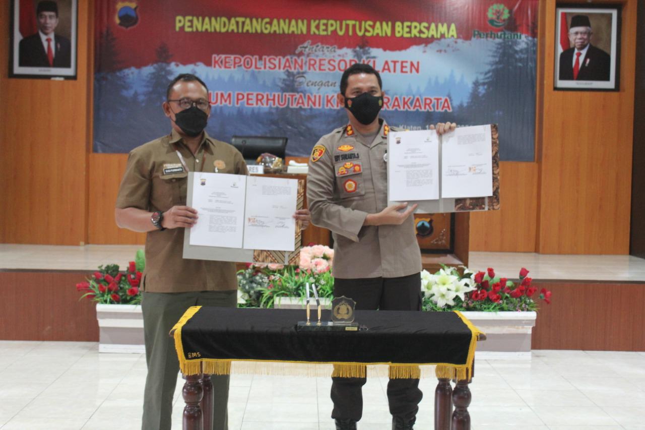 Polres Klaten MoU dengan Perum Perhutani KPH Surakarta, Pengamanan Hutan dan Penegakan Hukum