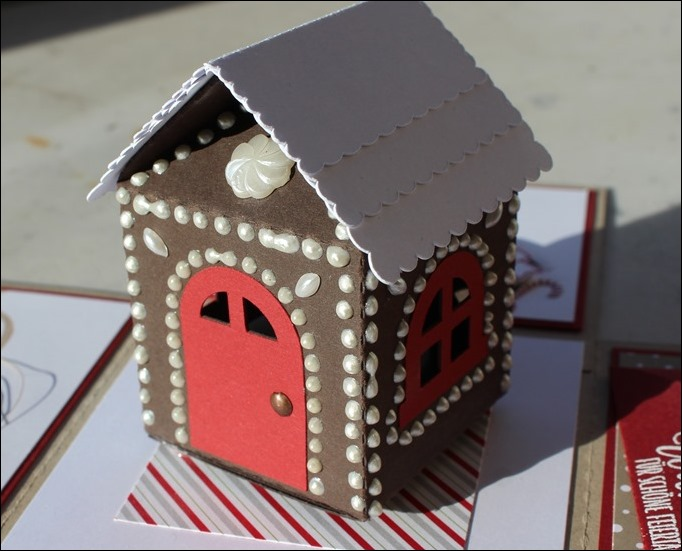 Explosion Box Weihnachten Stampin Up Christmas Candy Cane Lebkuchenhaus Gingerbread House LED 09