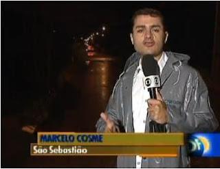 Chuva provocou a interdição de uma ponte em São Sebastião