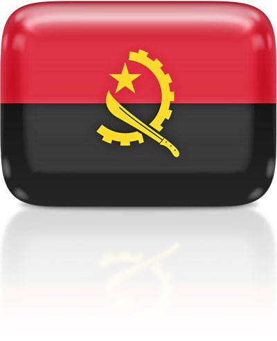 Angolan flag clipart rectangular
