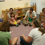 LePort Schools Parent & Child Toddler Montessori shares a group activity with the parents each class time, fostering a sense of community.