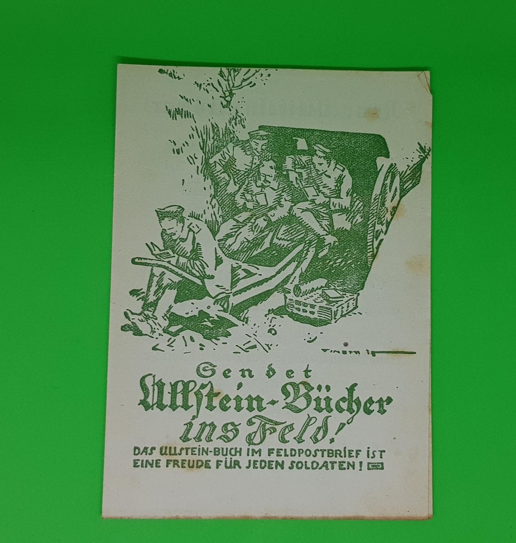 Ullstein-Bücher für Soldaten im Ersten Weltkrieg, 1914