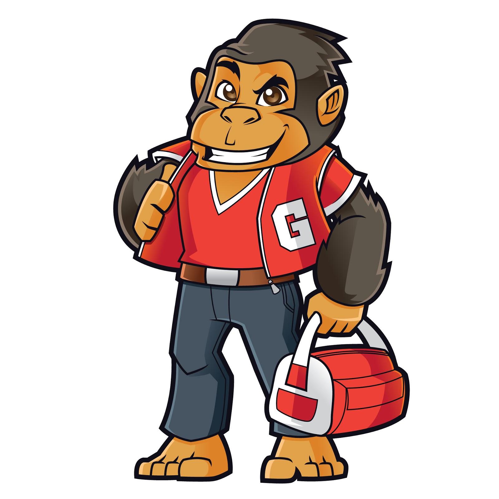 Gorilla Mascot Logo Free Download Vector CDR, AI, EPS and PNG Formats