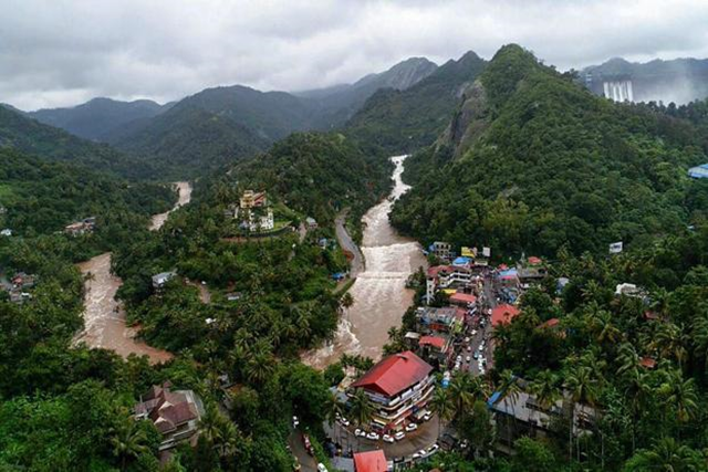 An aerial view of the flood-hit areas of Kerala, India, 15 August 2018. Photo: PTI