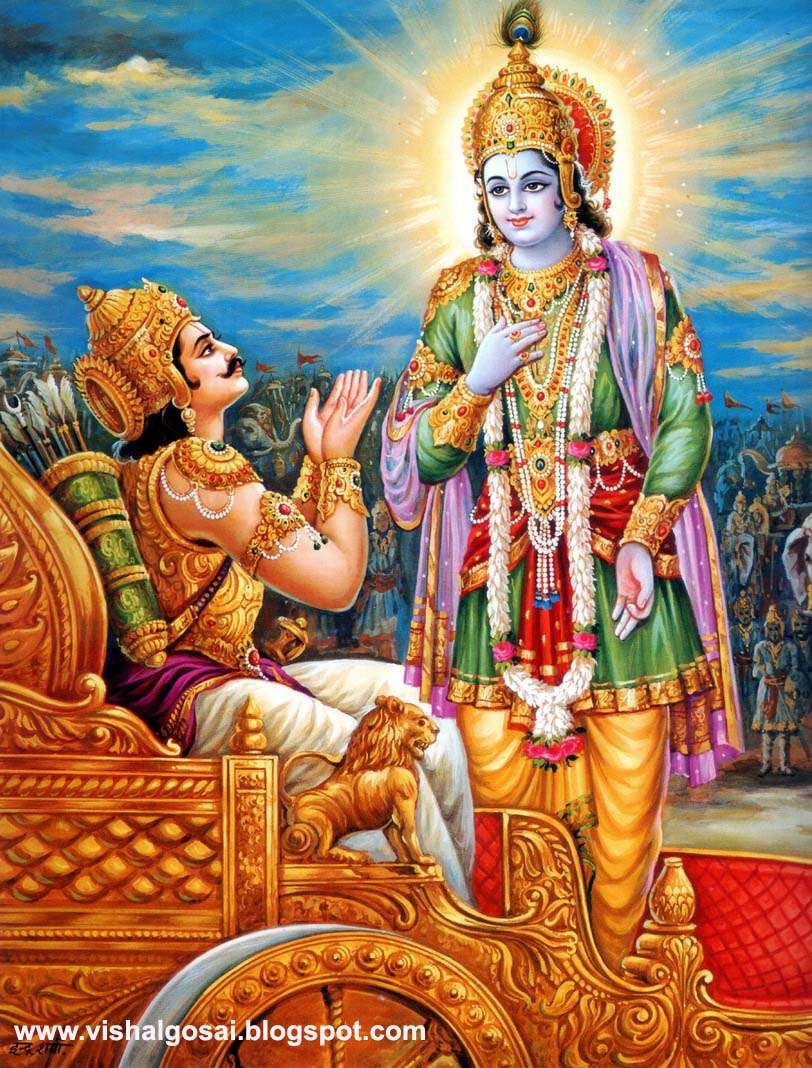 Famous Geeta Updesh Mahabharat Krishna Arjuna Wallpapers for free download