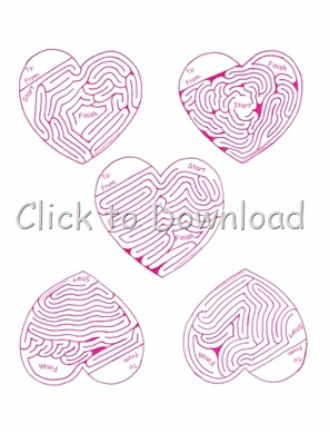 Valentines Day Printable Mazes