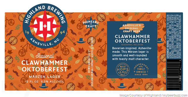 Highland Brewing Clawhammer Oktoberfest Returns For 2018