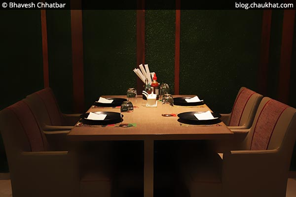 Indoor seating at Shizusan (The Asian Bistro) in Phoenix Market City at Viman Nagar area of Pune