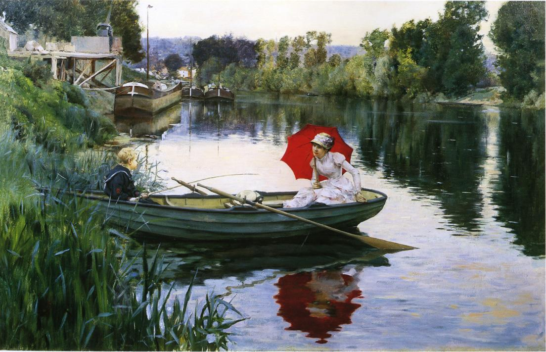 Julius LeBlanc Stewart - Quiet Day on the Seine