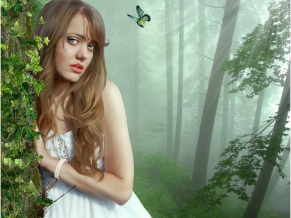 Lonliness Of Girl In The Forest, Magic Beauties 3