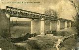 1907 - ponte a fine lavori di costruzione - vedi articolo - cartolina d'epoca