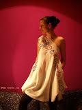 – T A B L E C L O T H REMAKE - dress with pocket - ecofrendly design
