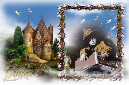 Сказочная рамка для фото - Гуси-лебеди