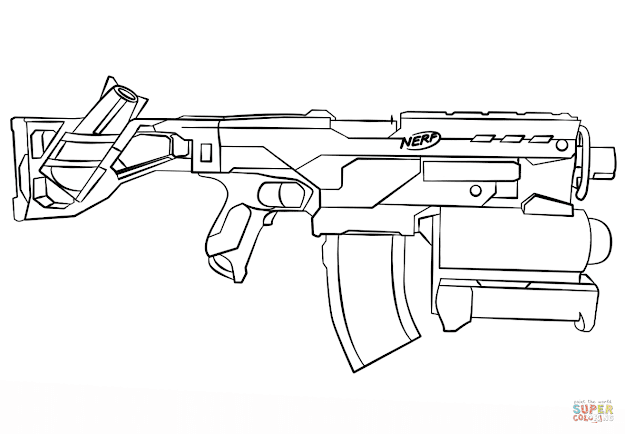 Click The Nerf Gun Coloring Pages To View Printable