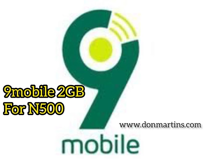 How To get 9mobile 2GB For 500 Naira~ Valid For 2 Days