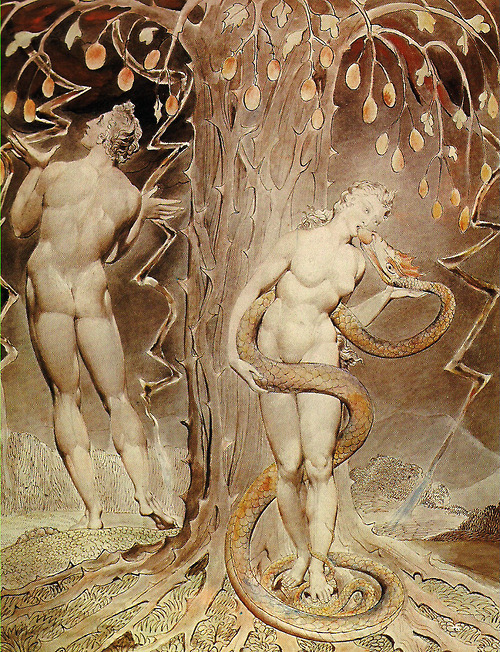 Temptation And Fall By William Blake 1808, William Blake