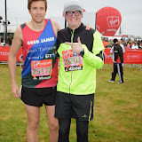 OIC - ENTSIMAGES.COM - Greg James and Chris Evans  at the Virgin London Marathon 2015 in London 26th April 2015  Photo Mobis Photos/OIC 0203 174 1069