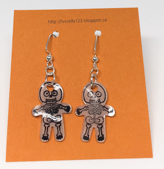 Linda Vich Creates: A Halloween Treat, A Ghost, and Other Creepy Stuff. Halloween earrings made by using Cookie Cutter Halloween, Cookie Cutter Builder Punch, and Shrinky Dinks plastic.