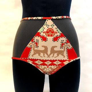 Adriana Degreas Net & Print Bikini Bottoms